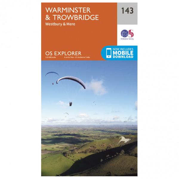 Ordnance Survey - Warminster / Trowbridge - Vandrekort