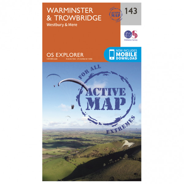 Ordnance Survey - Warminster / Trowbridge Waterproof - Vaelluskartat