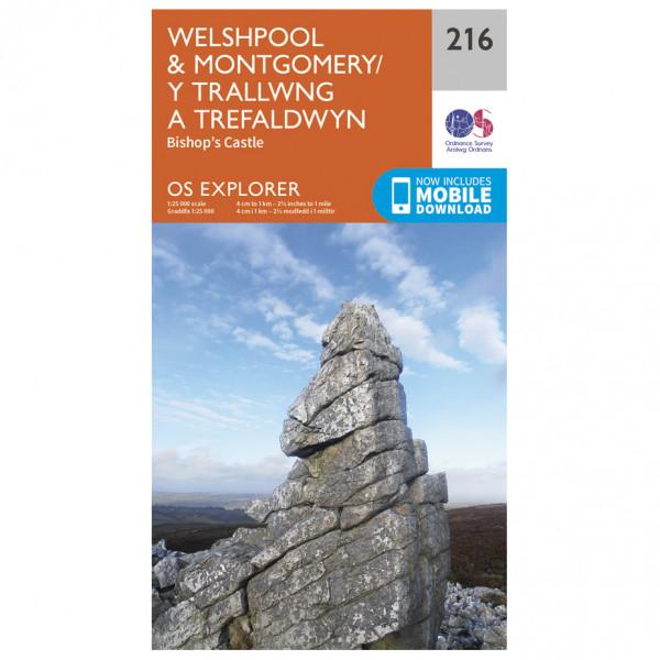 Ordnance Survey - Welshpool / Montgomery - Wandelkaarten