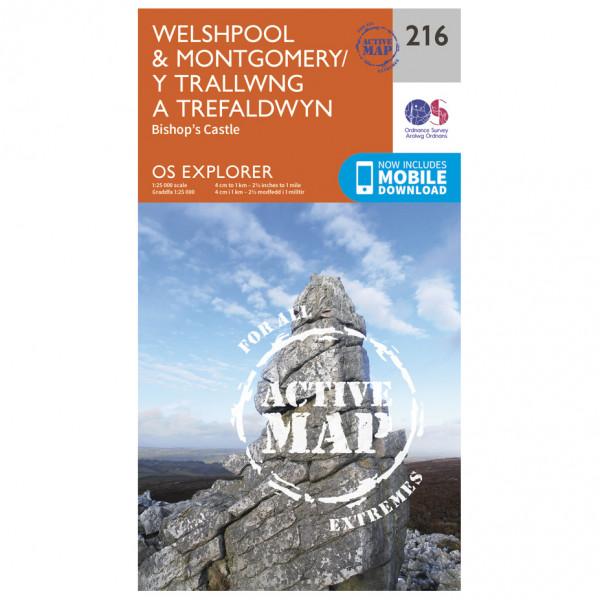 Ordnance Survey - Welshpool / Montgomery Waterproof - Vaelluskartat