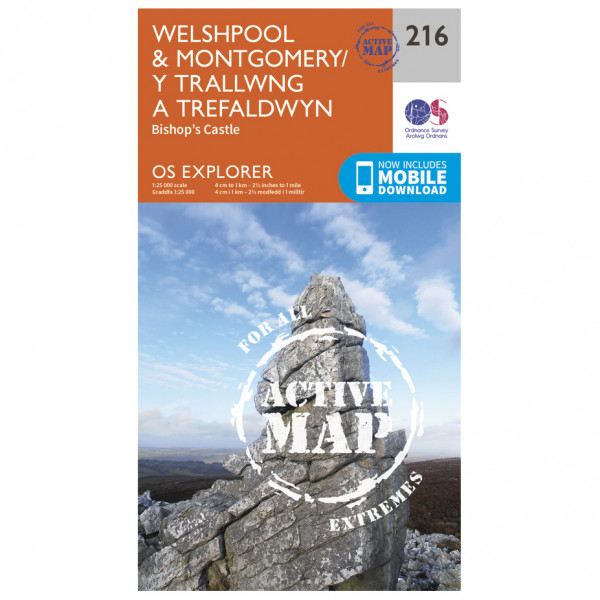 Ordnance Survey - Welshpool / Montgomery Waterproof - Vandrekort