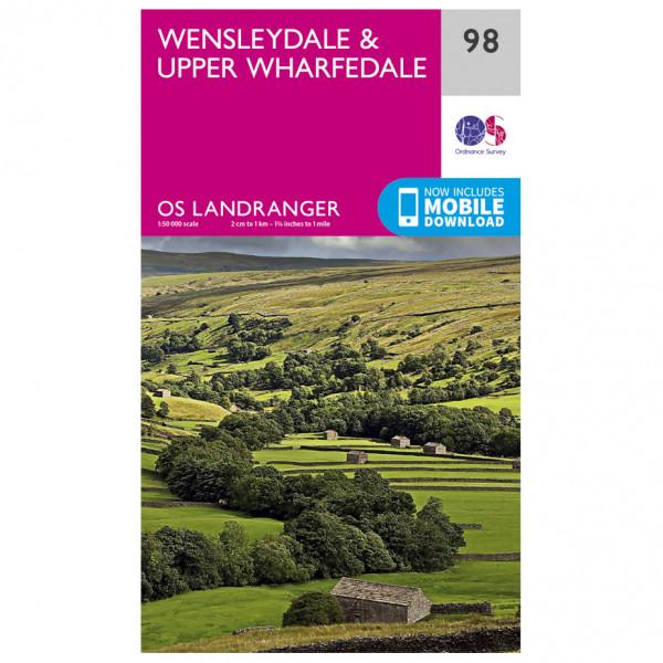 Ordnance Survey - Wensleydale / Upper Wharfedale - Wandelkaart