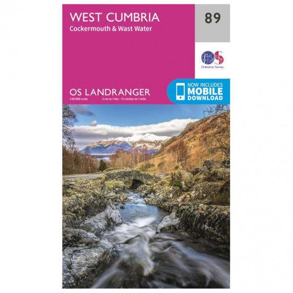 Ordnance Survey - West Cumbria - Hiking map