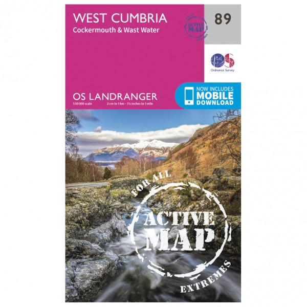 Ordnance Survey - West Cumbria Waterproof - Vandrekort