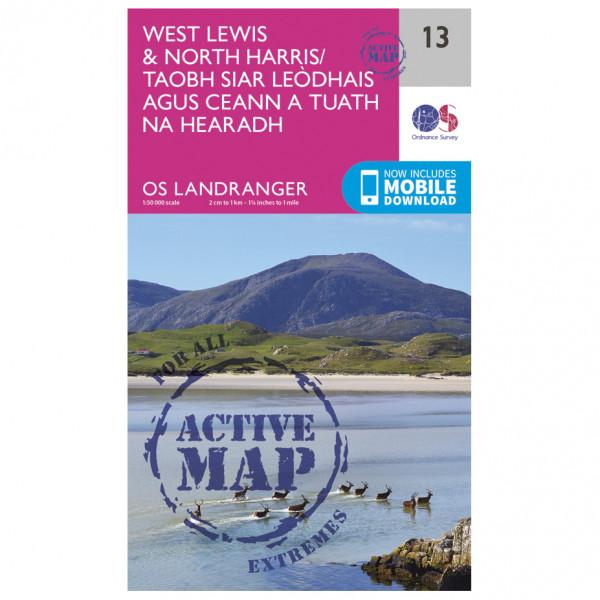 Ordnance Survey - West Lewis / North Harris Waterproof - Vaelluskartat