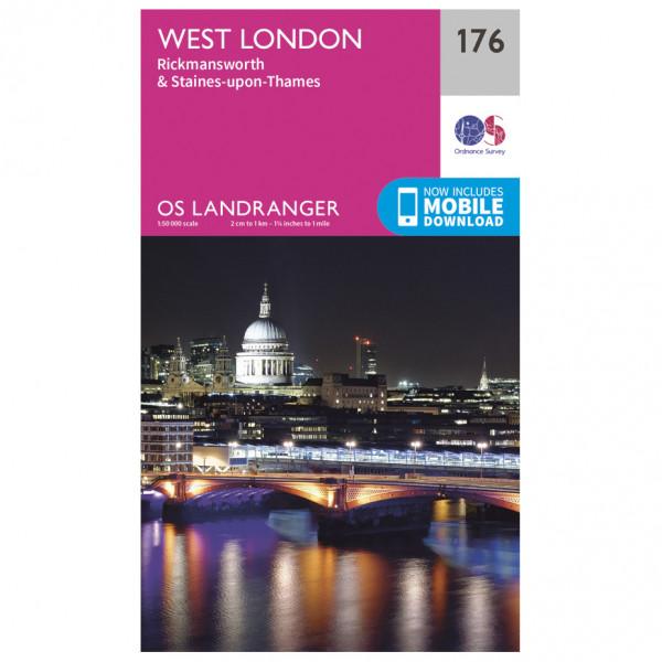Ordnance Survey - West London / Rickmansworth / Staines - Vaelluskartat