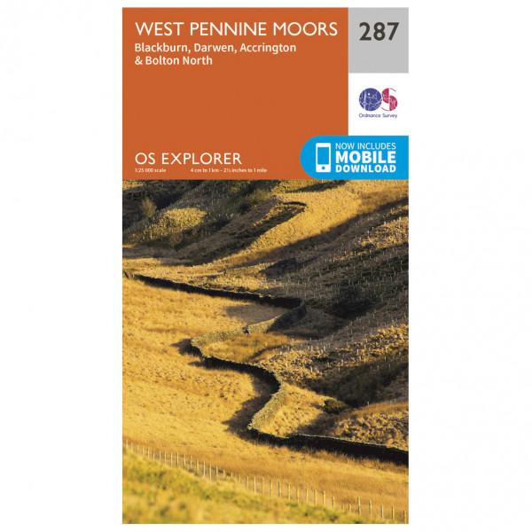 Ordnance Survey - West Pennine Moors - Vandrekort
