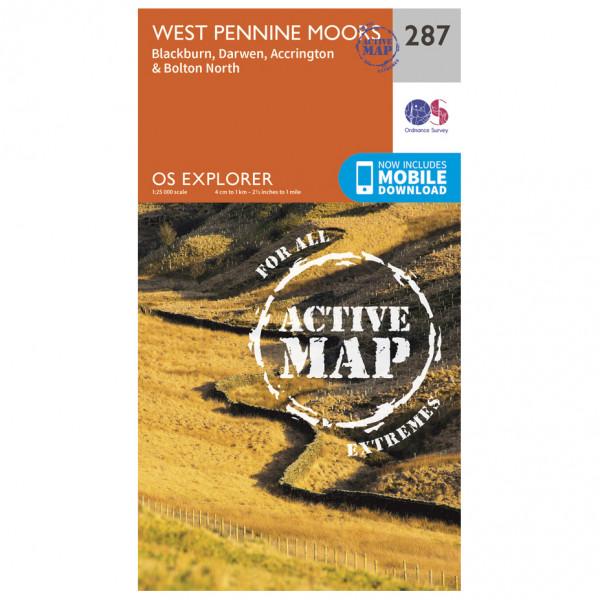 Ordnance Survey - West Pennine Moors / Blackburn Waterproof - Vandrekort