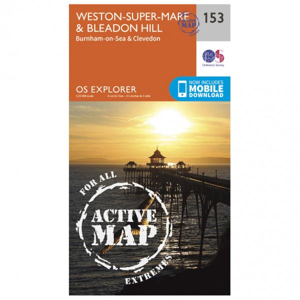 Ordnance Survey - Weston / Super / Mare / Bleadon Hill Waterproof EXPL153 - Wanderkarte