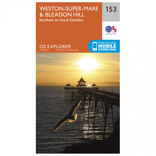 Ordnance Survey - Weston-Super-Mare / Bleadon Hill - Wanderkarte