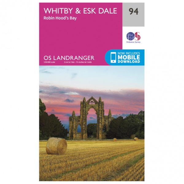 Ordnance Survey - Whitby / Esk Dale - Wandelkaart