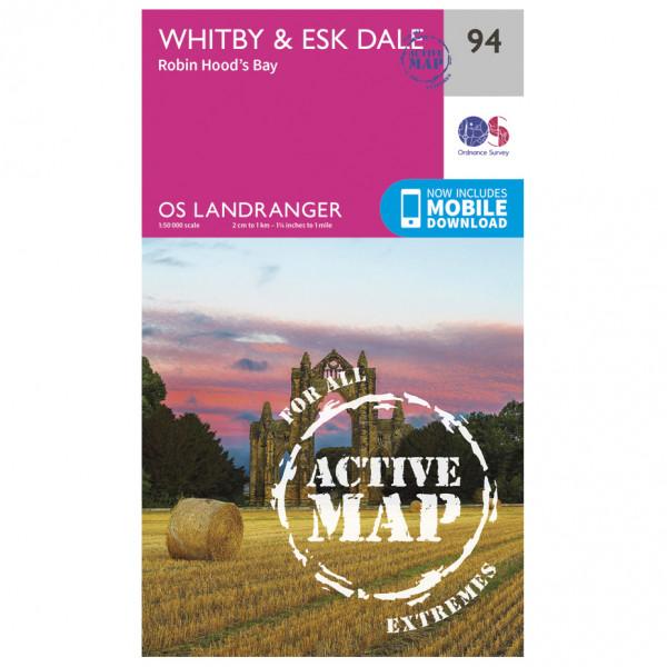 Ordnance Survey - Whitby / Esk Dale Waterproof - Wandelkaarten