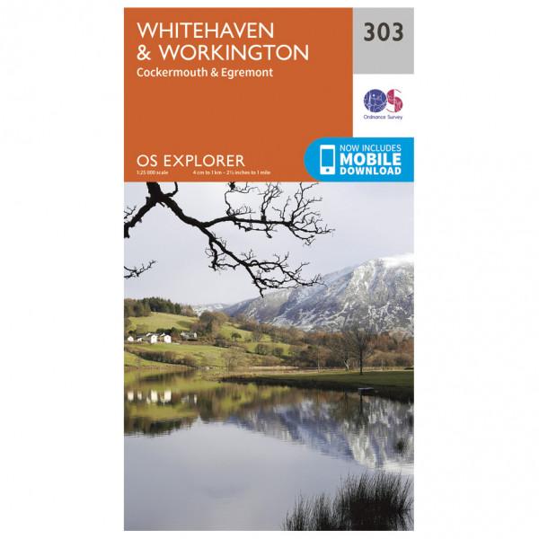 Ordnance Survey - Whitehaven / Workington EXP303 - Wanderkarte