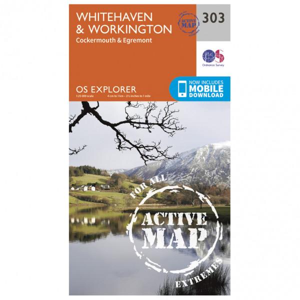 Ordnance Survey - Whitehaven / Workington Waterproof - Wandelkaarten