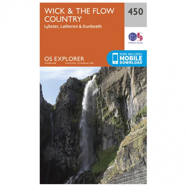 Ordnance Survey - Wick / The Flow Country - Wanderkarte
