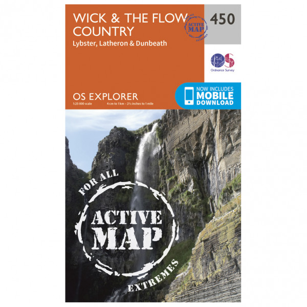 Ordnance Survey - Wick / The Flow Country Waterproof - Hiking map