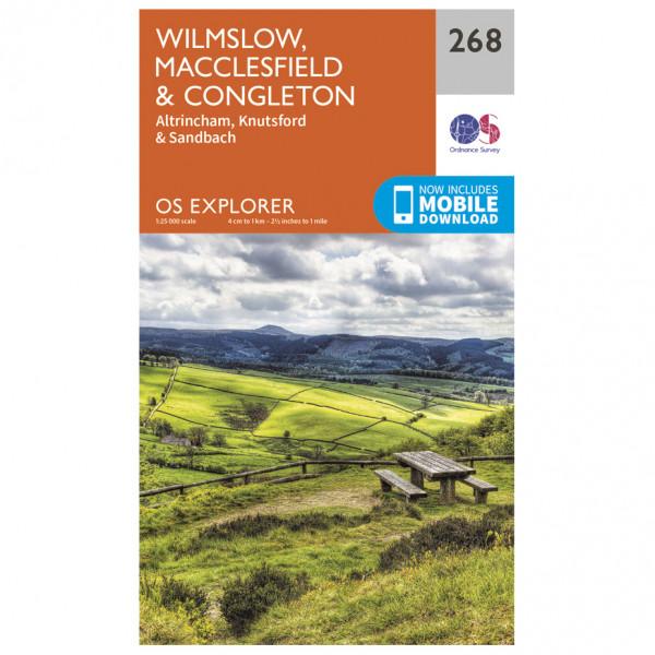 Ordnance Survey - Wilmslow / Macclesfield / Congleton - Vaelluskartat