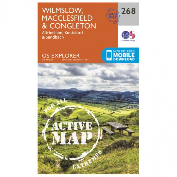 Ordnance Survey - Wilmslow / Macclesfield / Congleton Waterproof EXPL268 - Wanderkarte