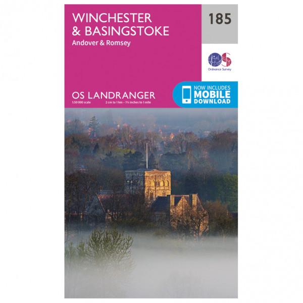 Ordnance Survey - Winchester / Basingstoke - Vandrekort