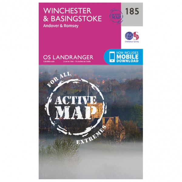 Ordnance Survey - Winchester / Basingstoke / Andover Waterproof - Hiking map