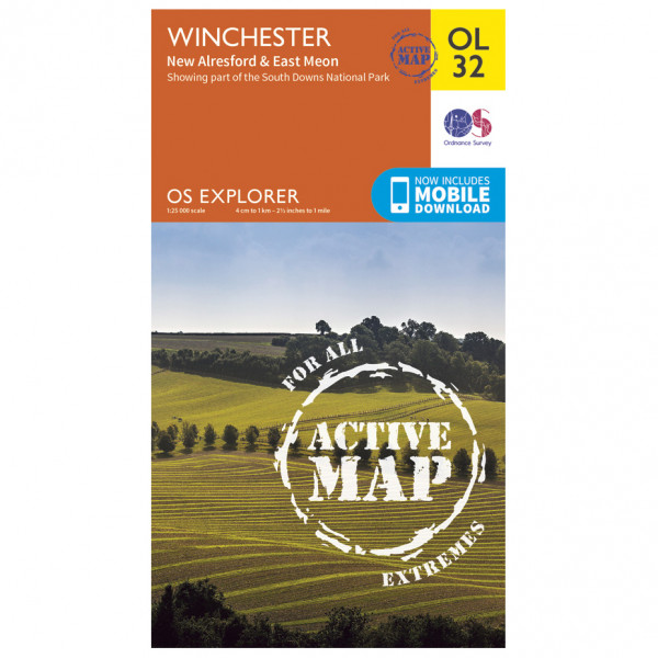 Ordnance Survey - Winchester / New Alresford Waterproof - Hiking map
