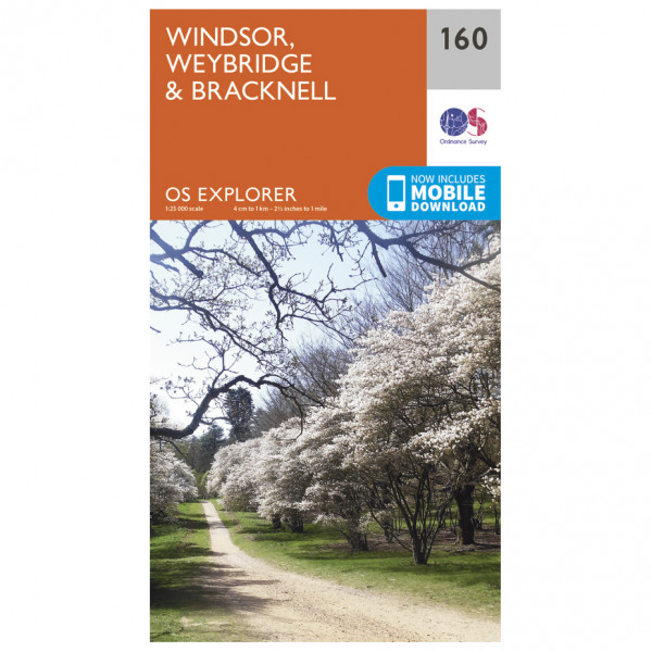 Ordnance Survey - Windsor / Weybridge / Bracknell - Mapa de senderos