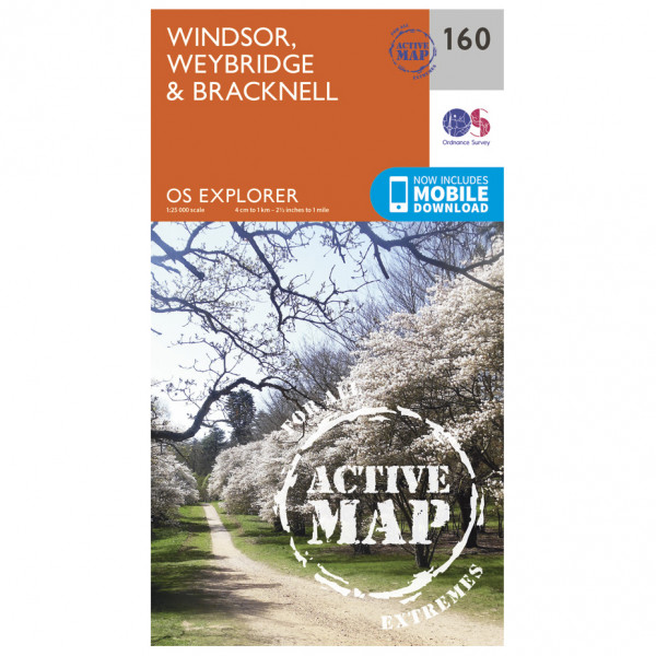 Ordnance Survey - Windsor / Weybridge / Bracknell Waterproof EXPL160 - Wanderkarte