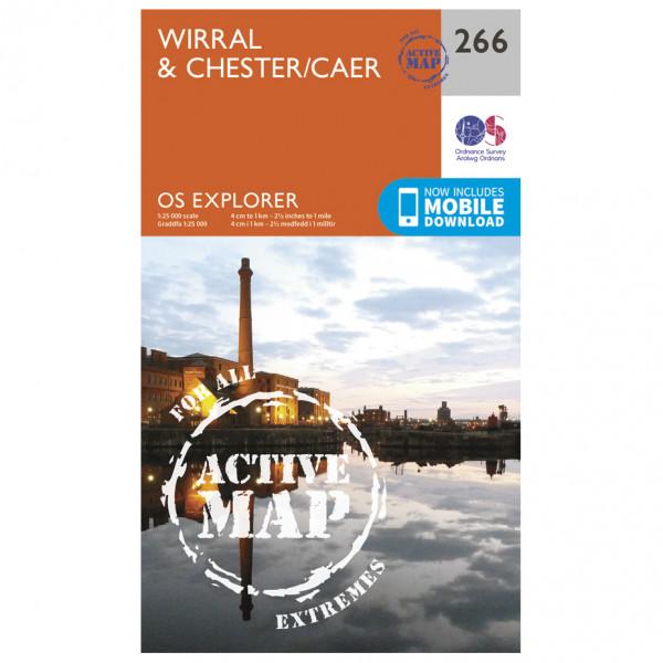Ordnance Survey - Wirral / Chester / Caer Waterproof - Mapa de senderos