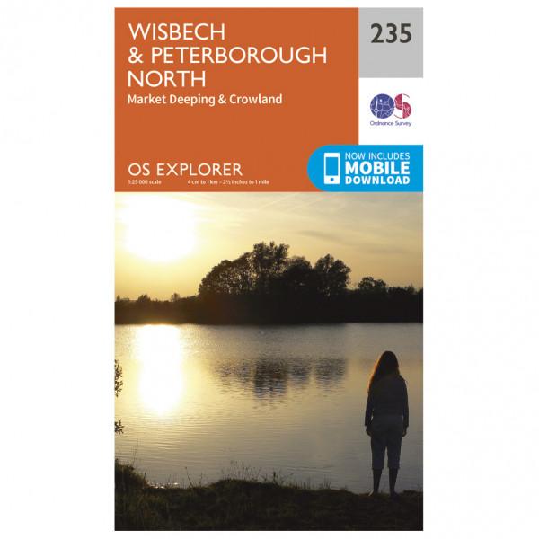 Ordnance Survey - Wisbech / Peterborough North / Market Deeping EXP235 - Wanderkarte