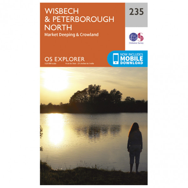 Ordnance Survey - Wisbech / Peterborough North / Market Deeping - Vaelluskartat