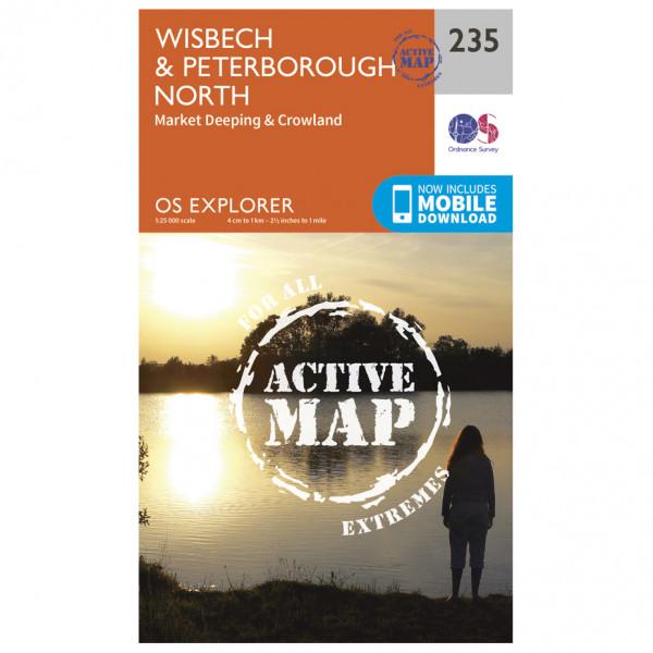 Ordnance Survey - Wisbech / Peterborough North Waterproof - Hiking map