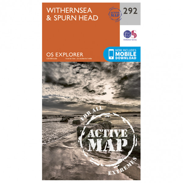 Ordnance Survey - Withernsea / Spurn Head Waterproof - Vandrekort