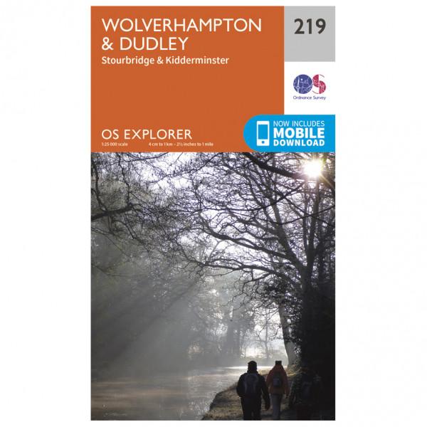 Ordnance Survey - Wolverhampton / Dudley - Vandrekort