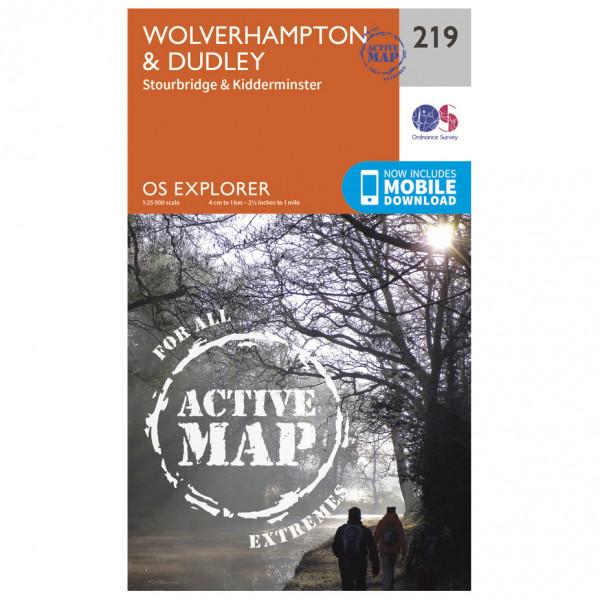 Ordnance Survey - Wolverhampton / Dudley / Stourbridge Waterproof - Hiking map