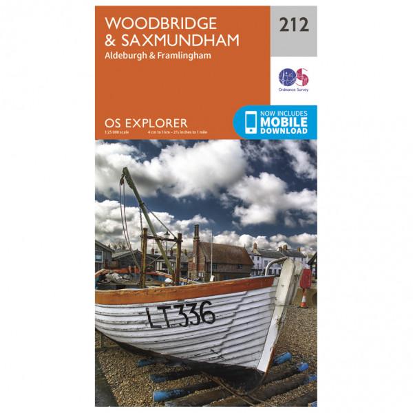 Ordnance Survey - Woodbridge / Saxmundham - Vandringskartor