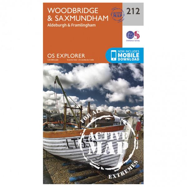 Ordnance Survey - Woodbridge / Saxmundham Waterproof - Wandelkaart