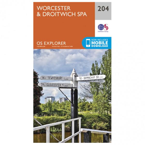Ordnance Survey - Worcester / Droitwich Spa - Turkart