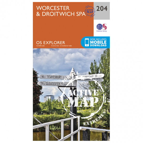 Ordnance Survey - Worcester / Droitwich Spa Waterproof - Hiking map