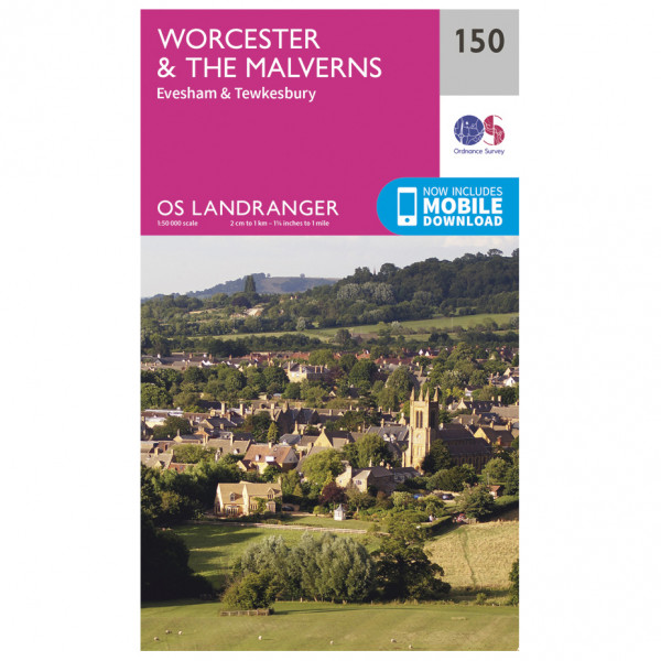 Ordnance Survey - Worcester / The Malverns L150 - Wanderkarte