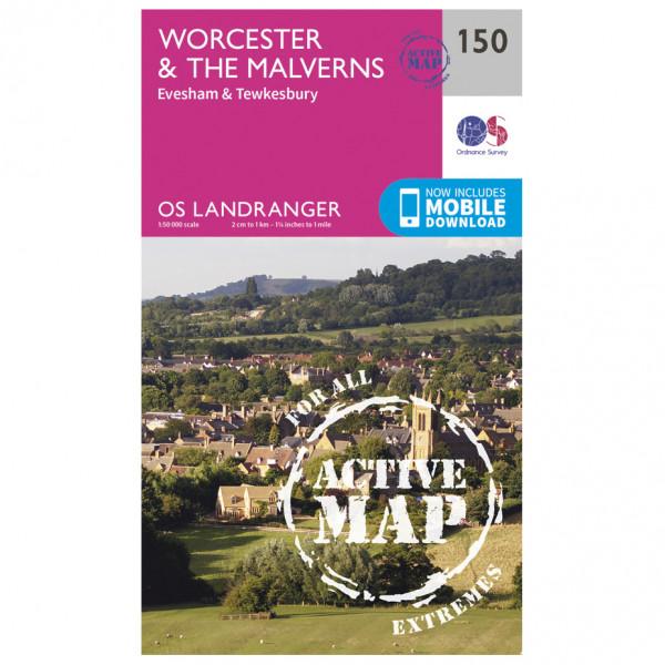 Ordnance Survey - Worcester / The Malverns Waterproof - Wandelkaarten