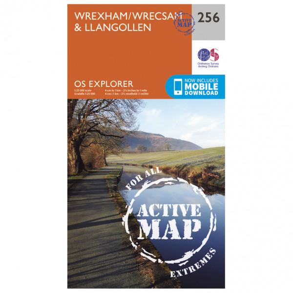 Ordnance Survey - Wrexham / Wrecsam / Llangollen Waterproof - Vaelluskartat