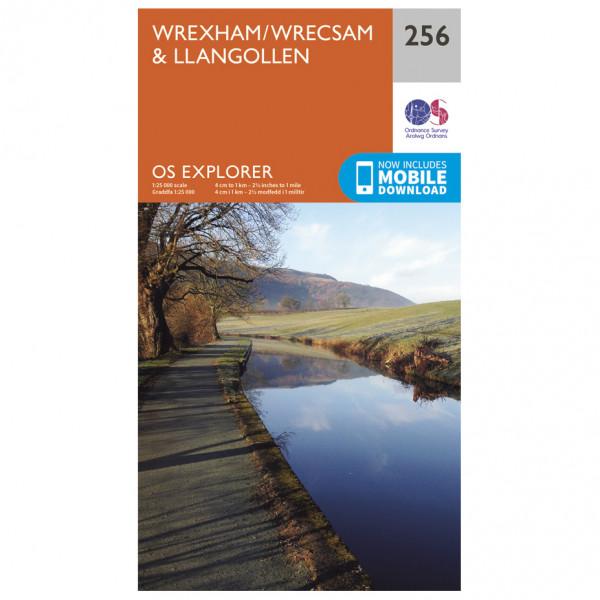 Ordnance Survey - Wrexham/ Wrecsam / Llangollen - Vaelluskartat