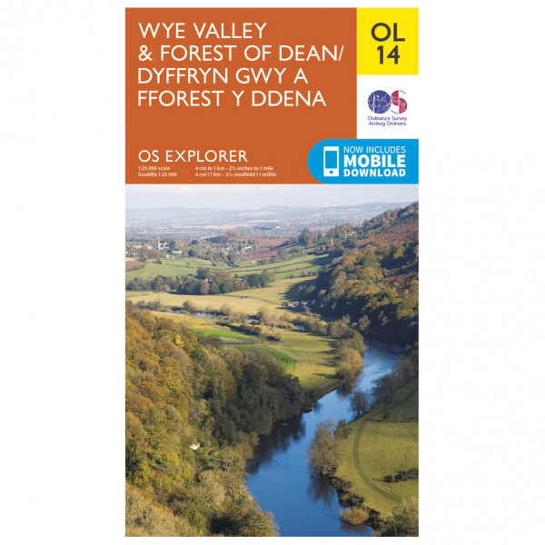 Ordnance Survey - Wye Valley / Forest Of Dean / Dyfryn Gwy Outdoor - Vandringskartor