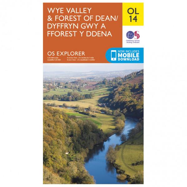 Ordnance Survey - Wye Valley / Forest Of Dean / Dyfryn Gwy Outdoor - Wandelkaarten