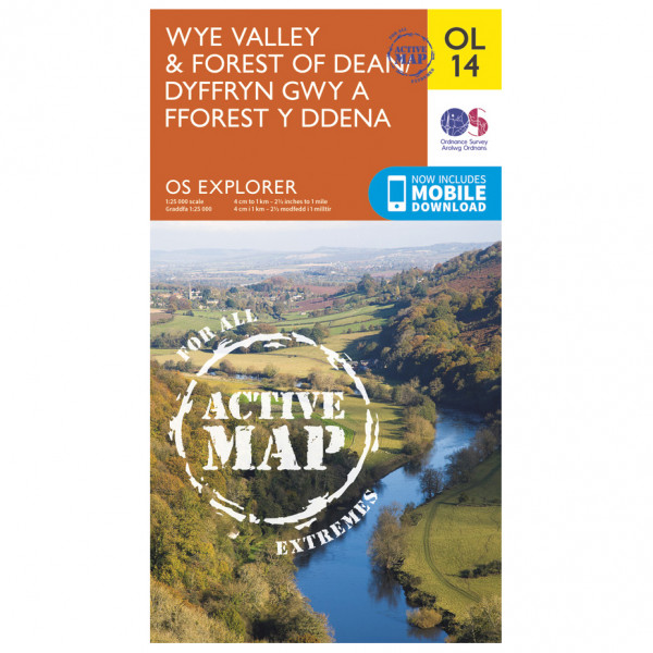 Ordnance Survey - Wye Valley And Forest Of Dean Waterproof EXPL014 - Wanderkarte