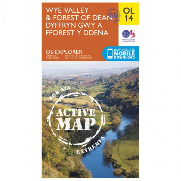 Ordnance Survey - Wye Valley And Forest Of Dean Waterproof - Mapa de senderos