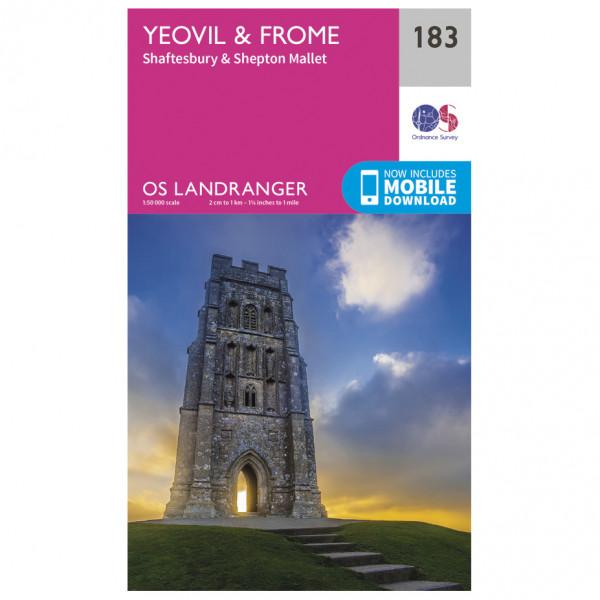 Ordnance Survey - Yeovil / Frome - Wanderkarte