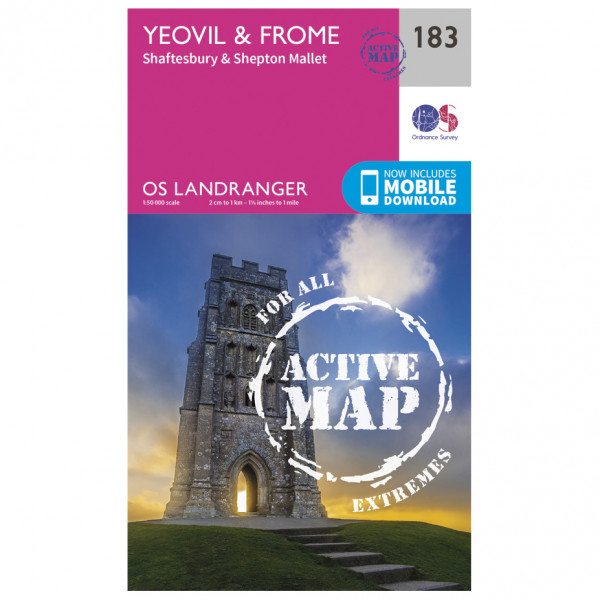 Ordnance Survey - Yeovil / Frome Waterproof LA183 - Wanderkarte