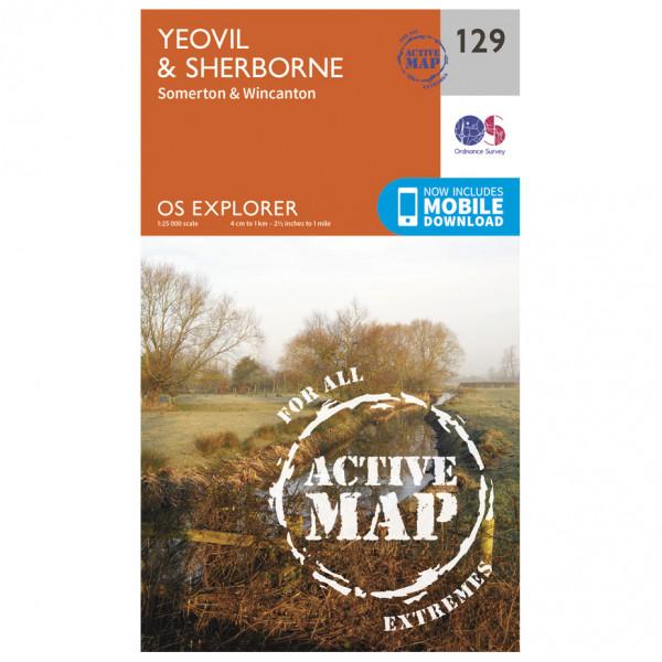 Ordnance Survey - Yeovil / Sherborne Waterproof - Hiking map