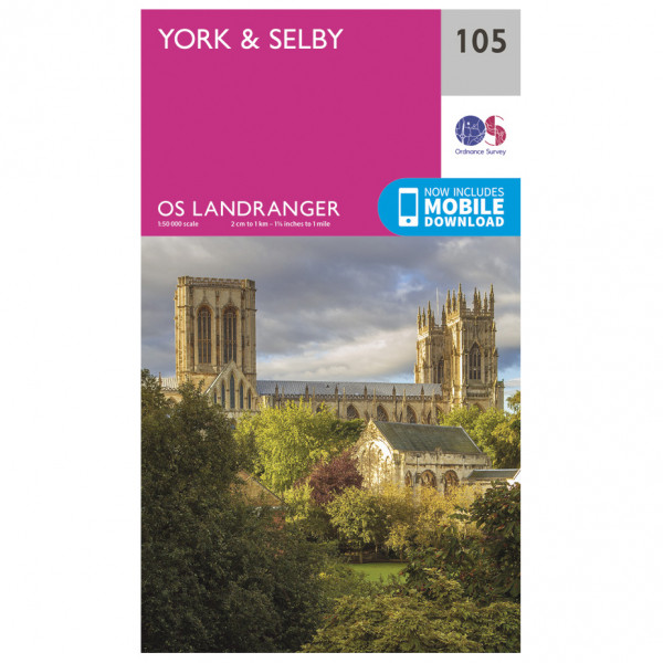 Ordnance Survey - York / Selby L105 - Wanderkarte